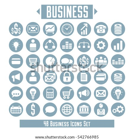 set of business icons and design elements for your layout.