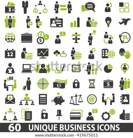 Set of 60 business icons. Business icon set. Business icons set jpeg