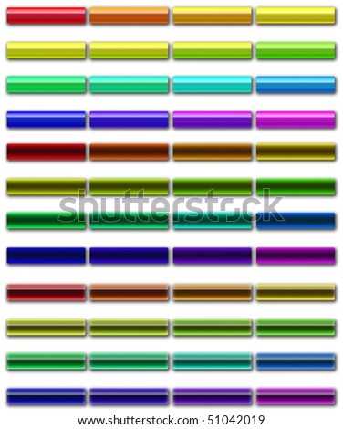 set of buttons different style - stock photo