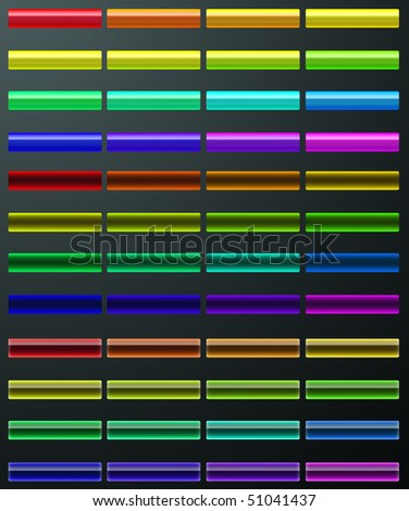 set of buttons different styles - stock photo