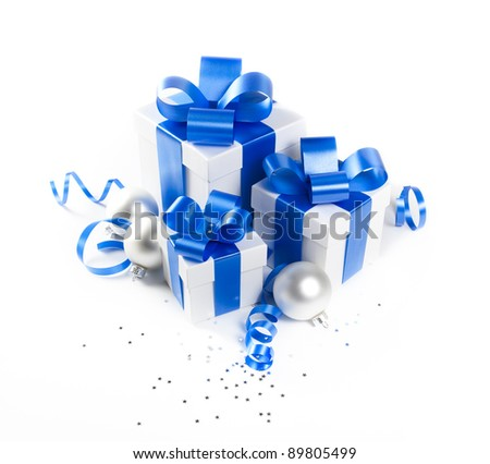 Set of Christmas gifts - stock photo