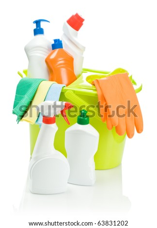 set of cleaning accessories