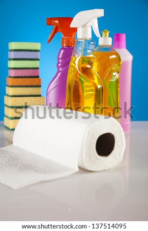 Set of cleaning products - stock photo