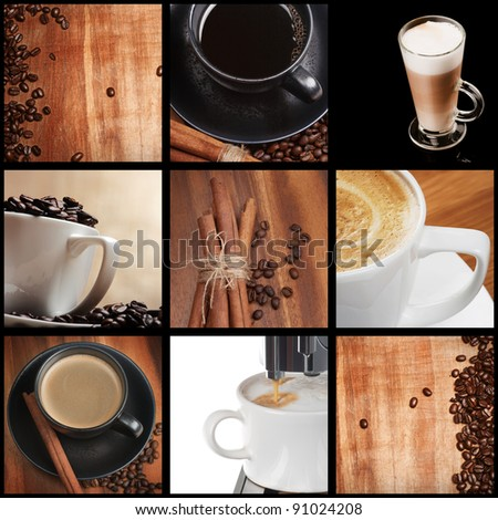 set of coffee photos