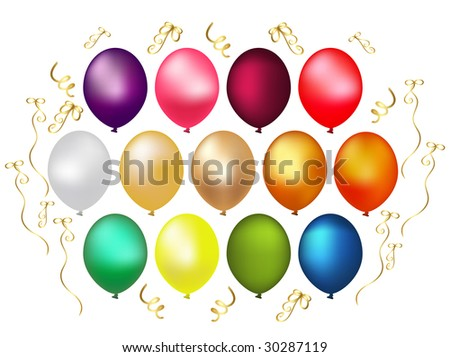 Set of color Balloons.