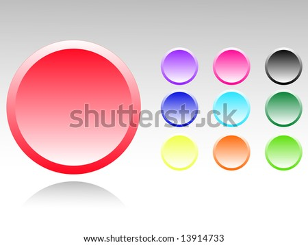 Set of color buttons