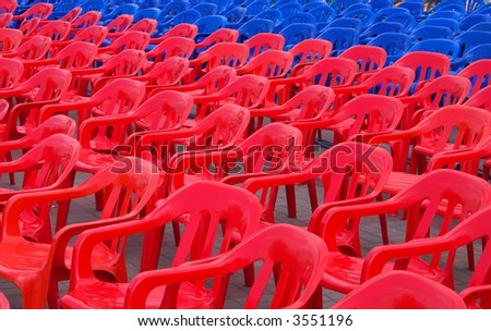 Set of color chairs - stock photo