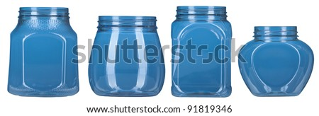 Set of color plastic bottle isolated