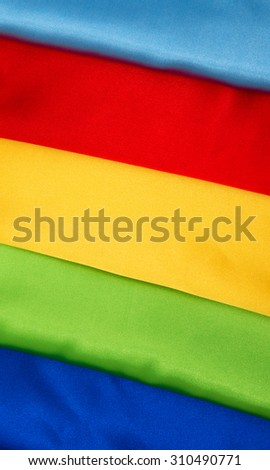 Set of colored banners of satin fabric backgrounds