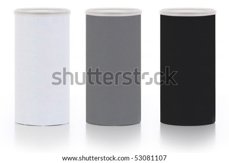 Set of 3 Colored Containers - stock photo