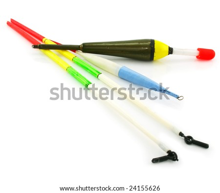 Set of colored floats isolated on a white background