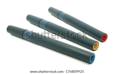 set of colored pens - stock photo