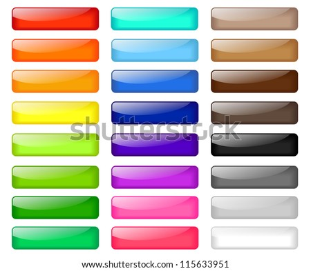 Set of colored web buttons - stock photo