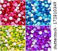 set of colorful chocolate candy coated with frosting. backgrounds collections - stock photo