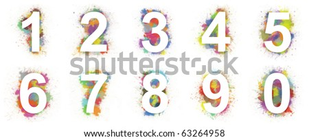 Set of colorful halftone numbers