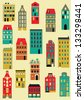 Set of colorful houses. - stock