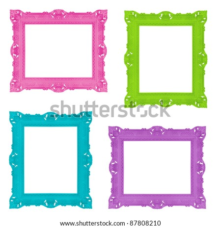 Set of colorful ornamental frames, similar available in my portfolio - stock photo