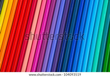 Set of colorful pencils on the table - stock photo
