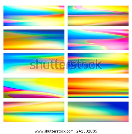 Set of 10 colorful templates.  - stock photo