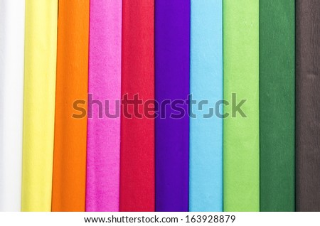 set of colorful tissue paper as background