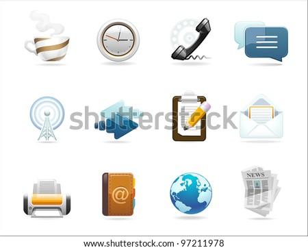 set of communication icons - stock photo
