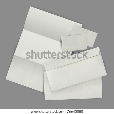 set of corporate identity templates. each one shot separately - stock photo