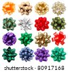 set of decorative bows - stock photo