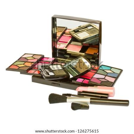 set of decorative cosmetics - stock photo