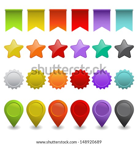 set of design elements (raster version of the vector) - stock photo