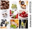 set of different desserts - stock photo