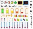 Set of different indicators - stock photo