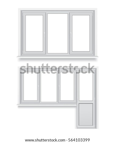 set of different plastic windows