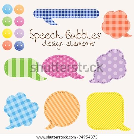 set of different speech bubbles,  design elements. Raster version. - stock photo