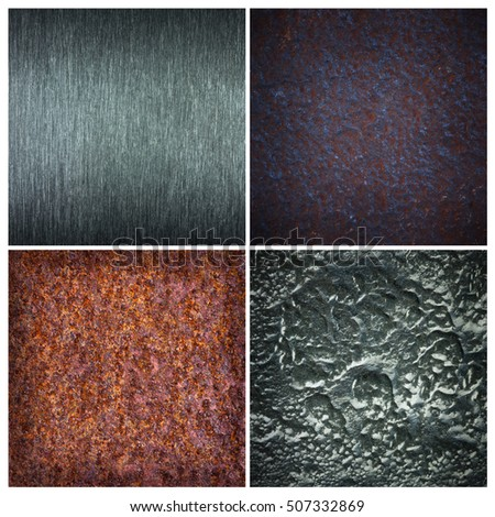 Set of different texture of metal