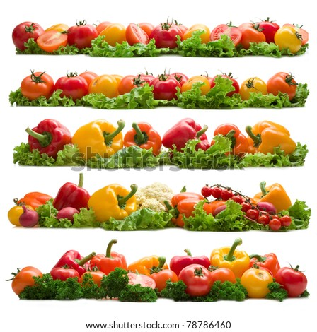 set of different vegetable backgrounds