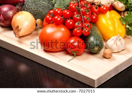 Set of different vegetables - stock photo