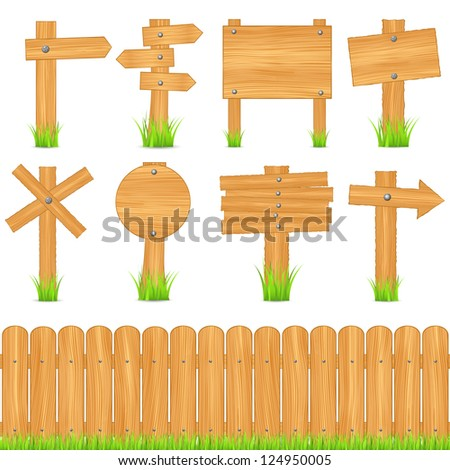 Set of different wooden objects - stock photo