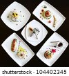 Set of dishes prepared in restaurant - stock photo
