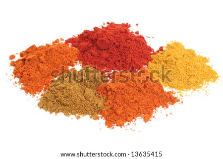 Set of dry spices
