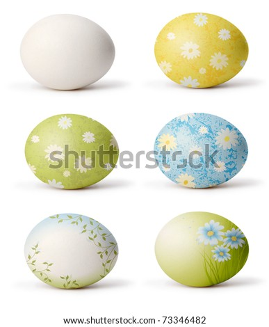 set of easter egg (my design) - stock photo