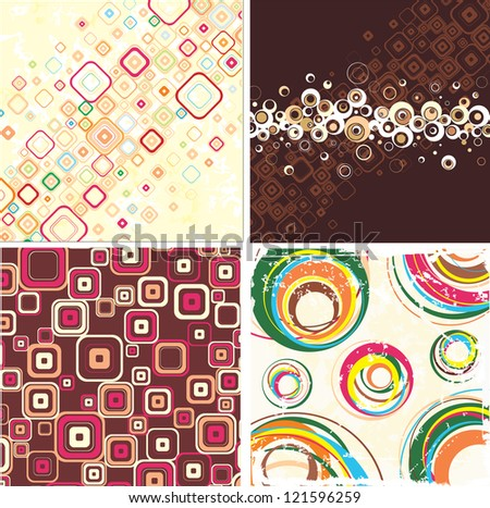 Set of elegance abstract background on different topics. Raster version