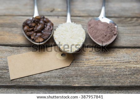 Set of fair trade products - stock photo