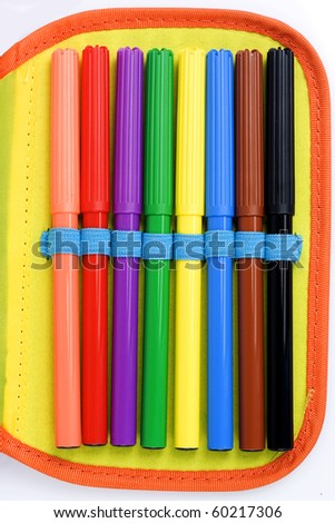 Set of felt-tip pens of different colors - stock photo