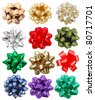 set of festive bows - stock photo