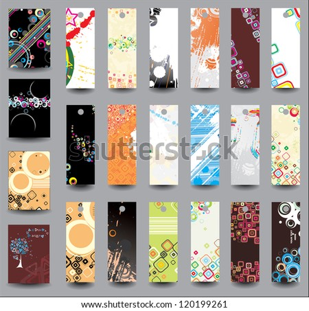 Set of flyers and banners. Raster version - stock photo