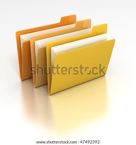 Set of folders - stock photo