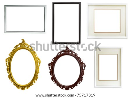 set of frames isolated on white background - stock photo