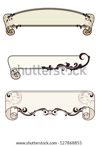 set of frames , raster background