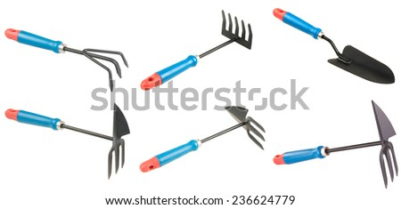 set of garden tool for digging  - stock photo
