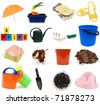 Set of gardening tools - stock photo